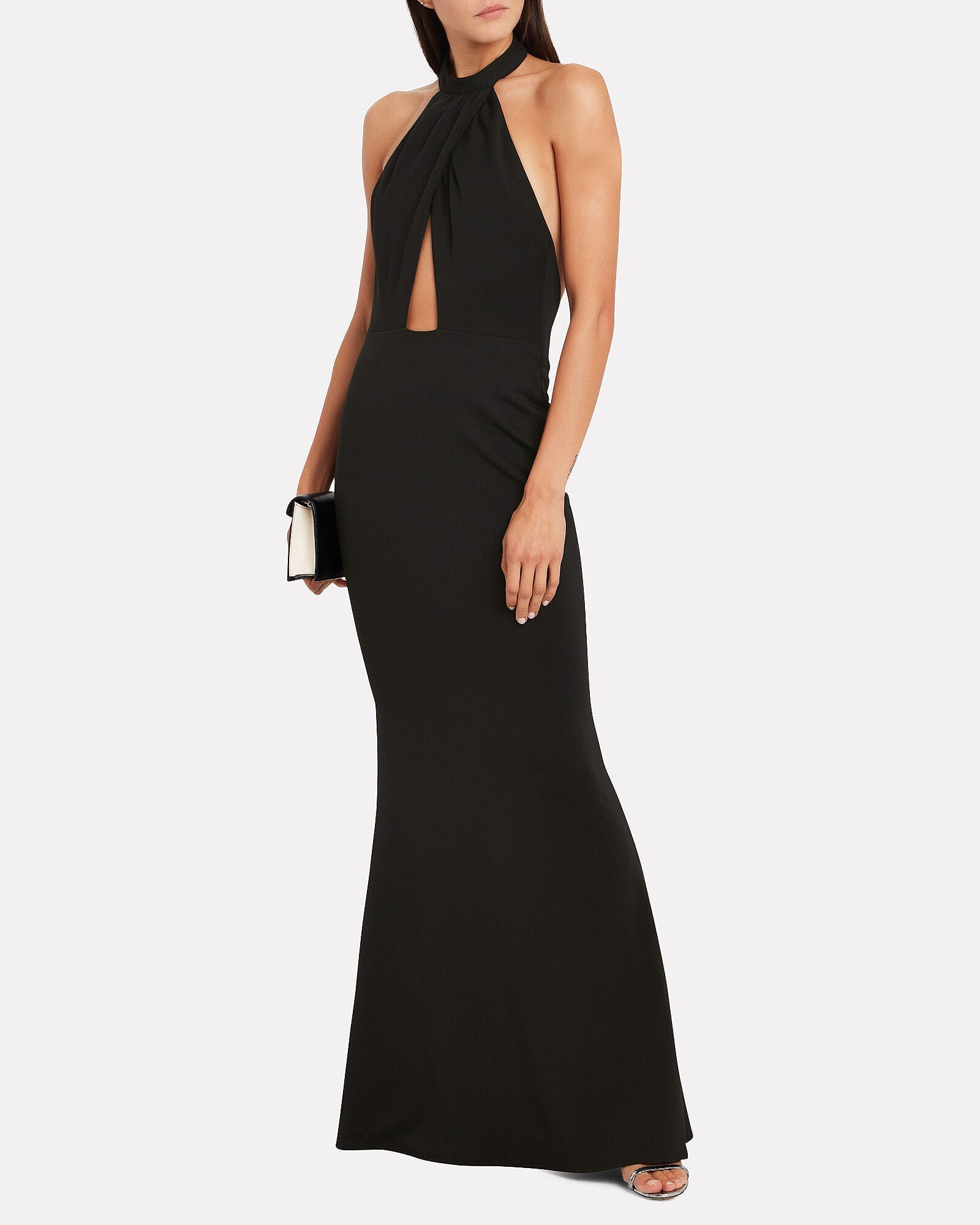 KATIE MAY Petra Jersey Halter Gown
