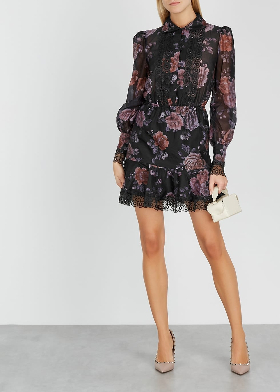 KEEPSAKE Atomic Floral-print Organza Mini Dress