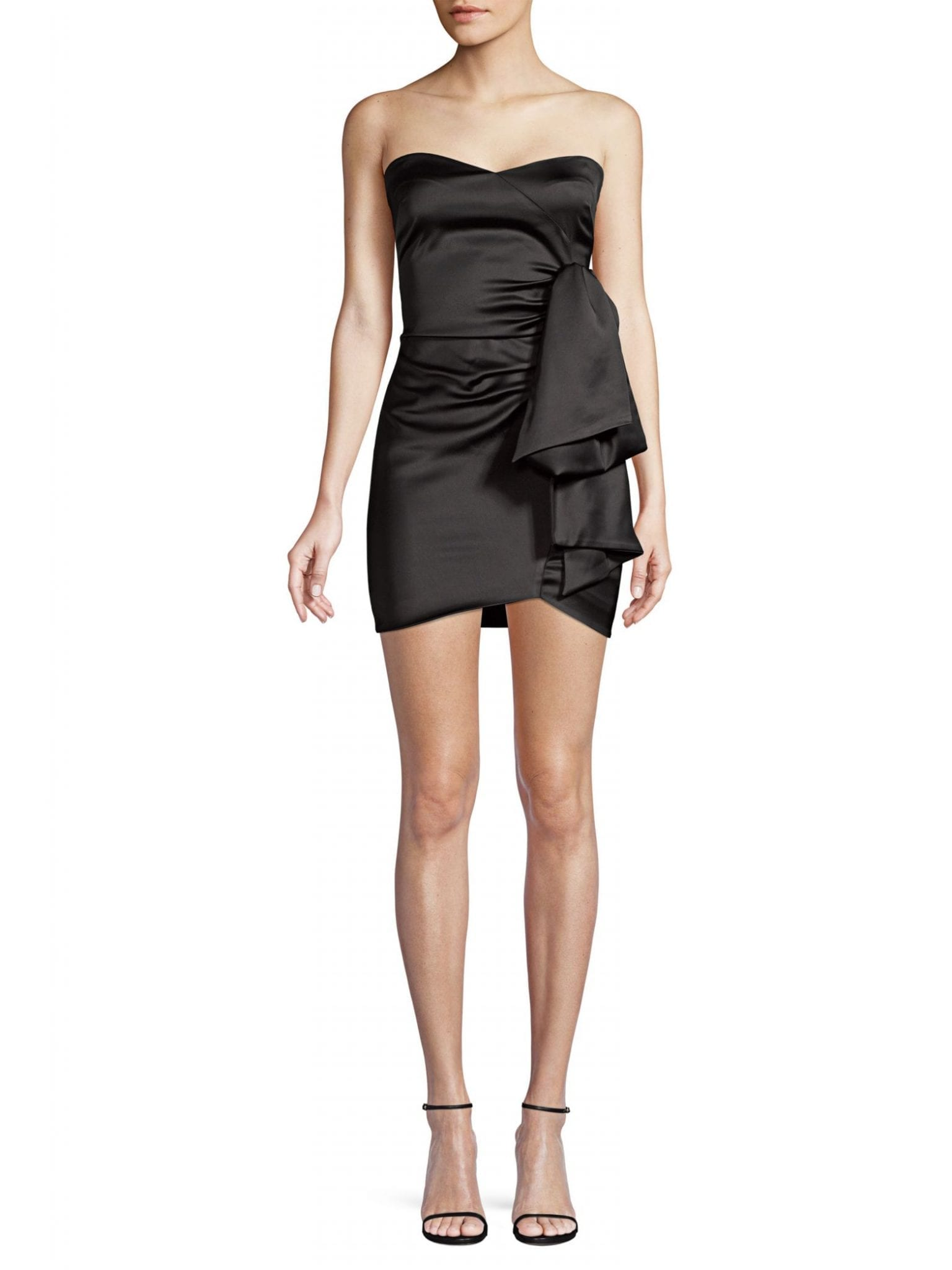 LIKELY Kika Sweetheart Satin Mini Dress