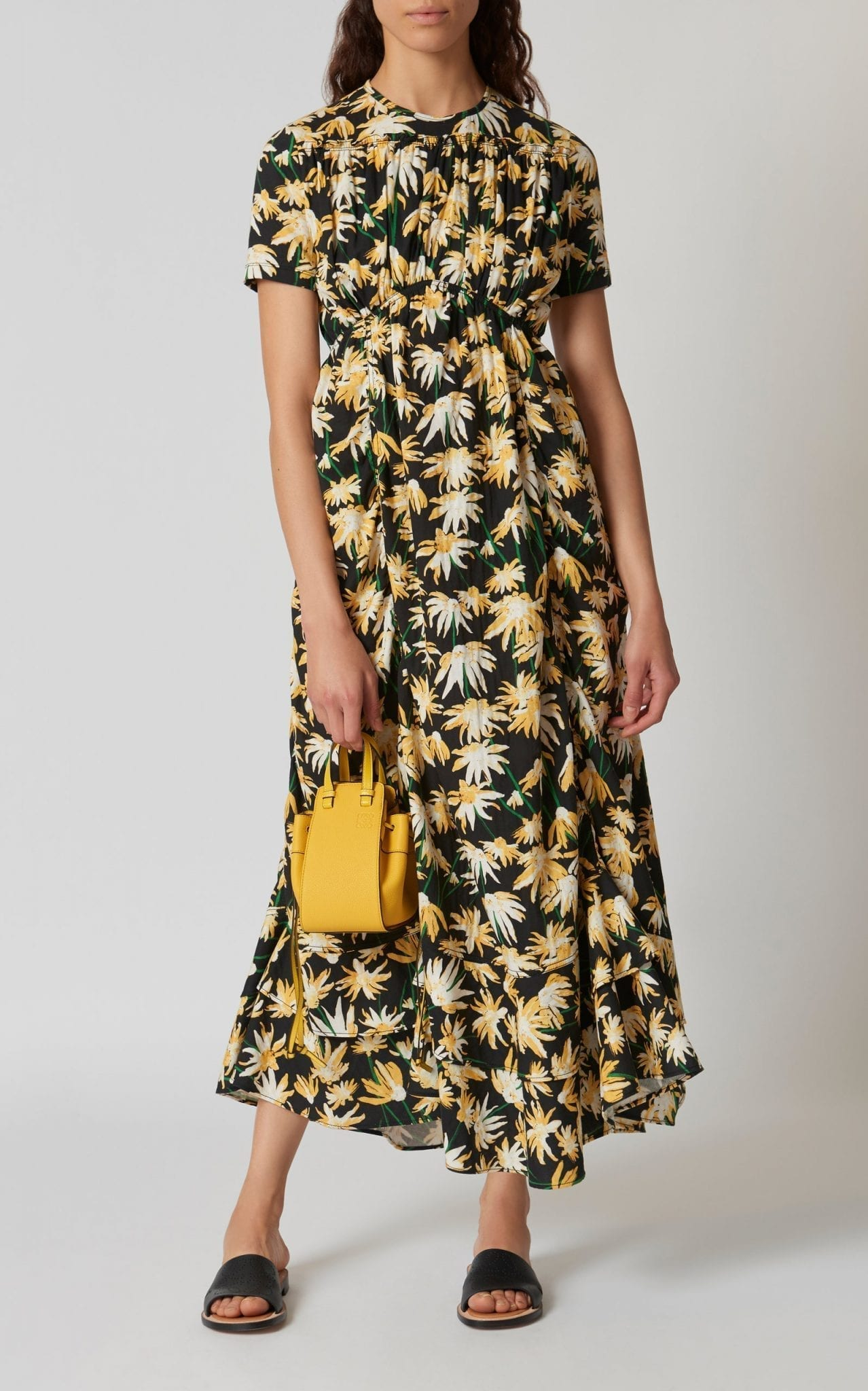 LOEWE Gathered Cotton Maxi Dress