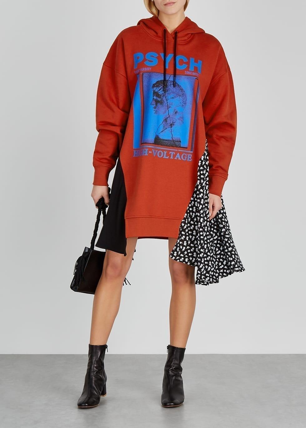 MCQ ALEXANDER MCQUEEN Psych Printed Cotton Sweatshirt Dress