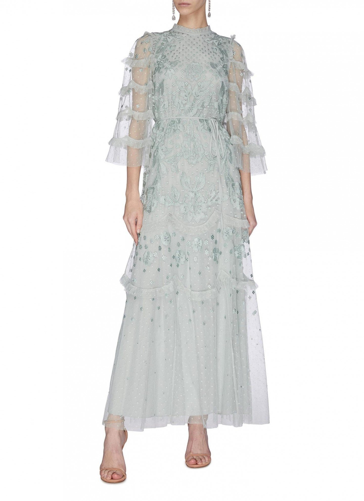 NEEDLE & THREAD Lace Patchwork Gown
