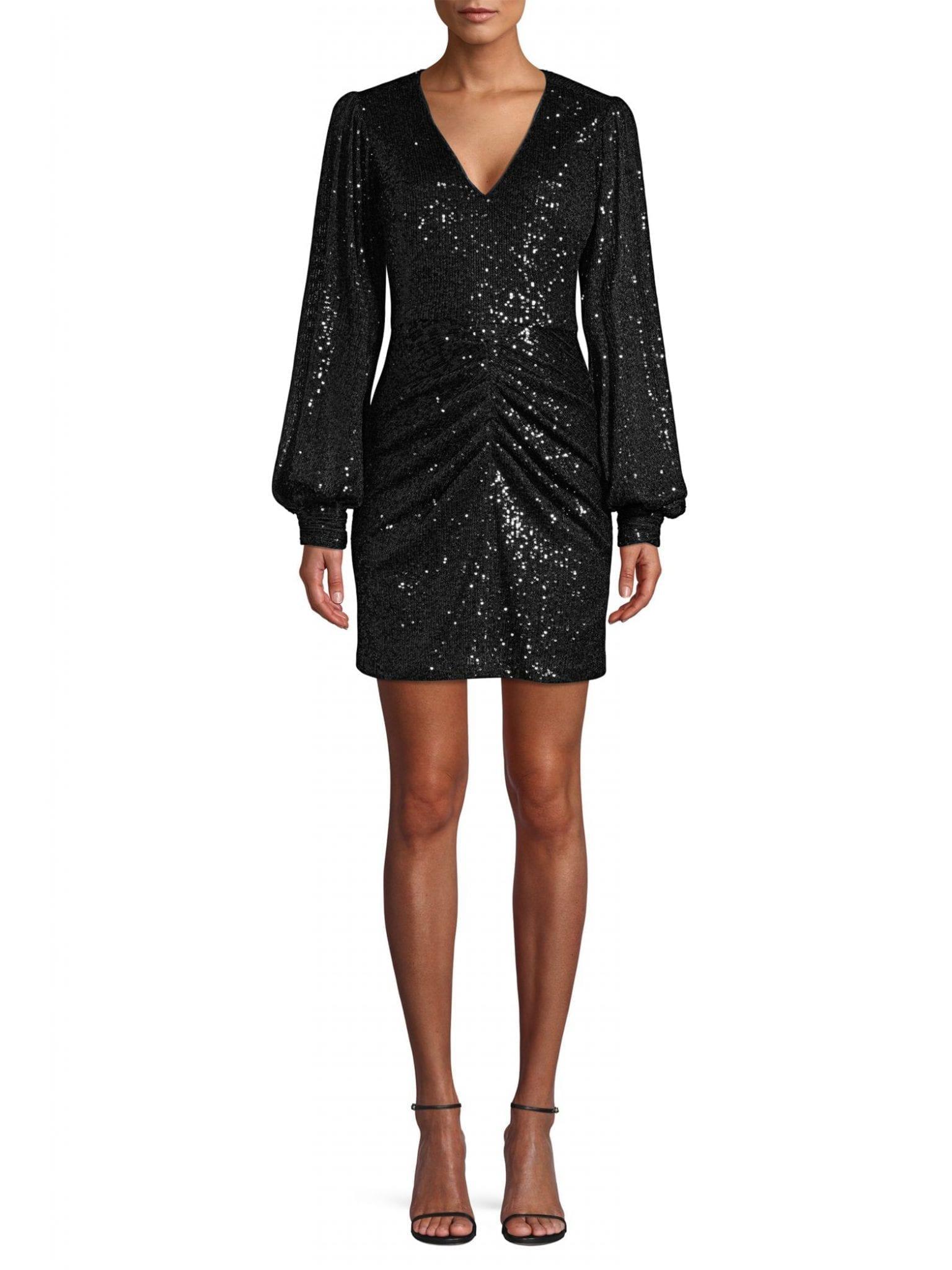 PARKER BLACK Ash Sequin Combo Sheath Dress