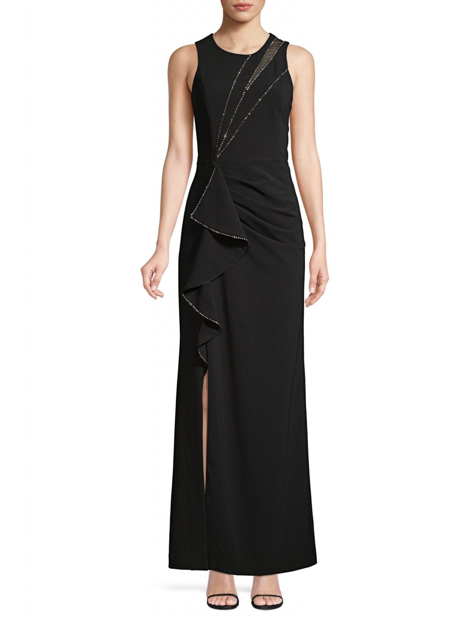 PARKER BLACK Ella Embellished Column Gown