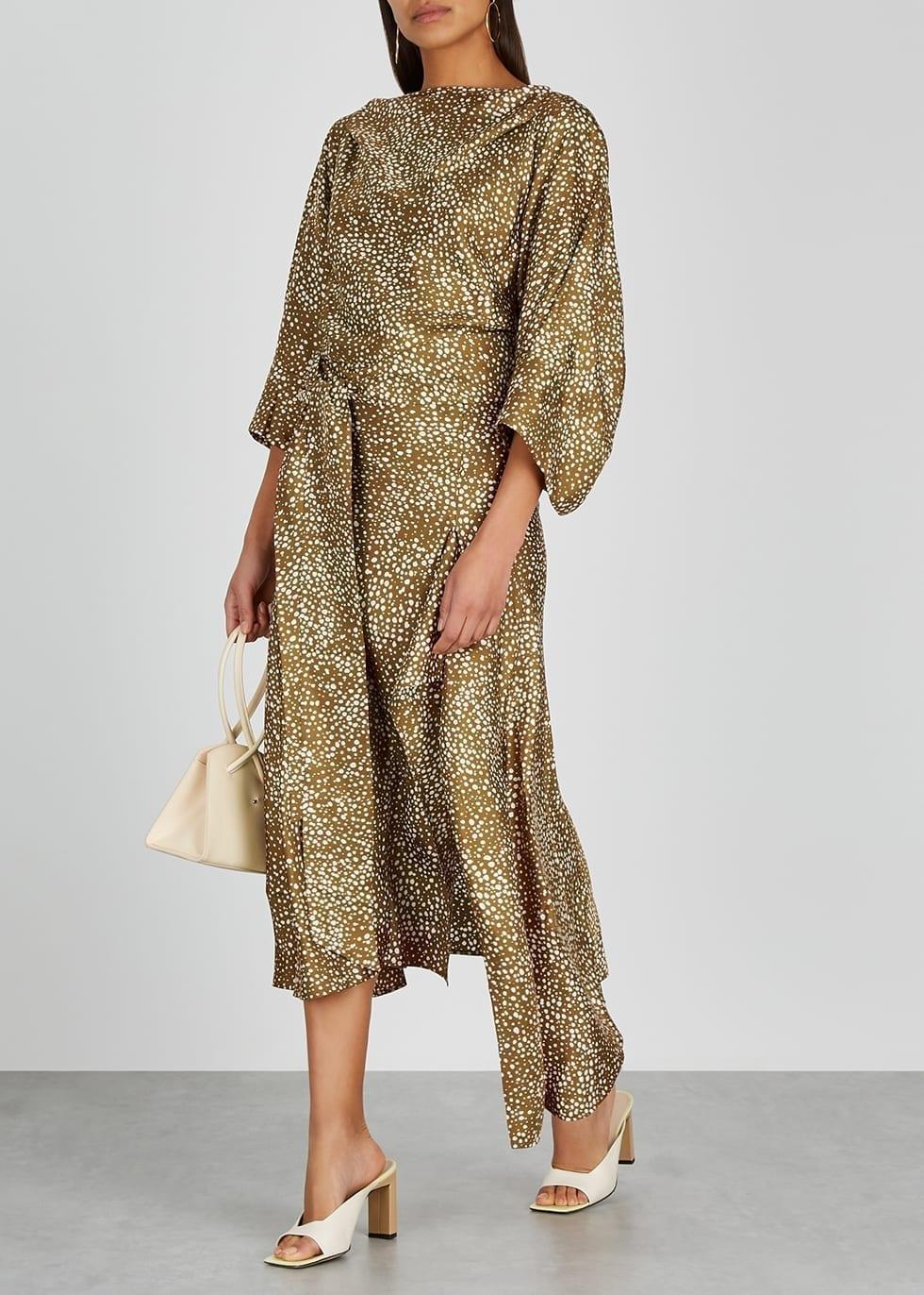 PETAR PETROV Agatha Printed Silk Midi Dress