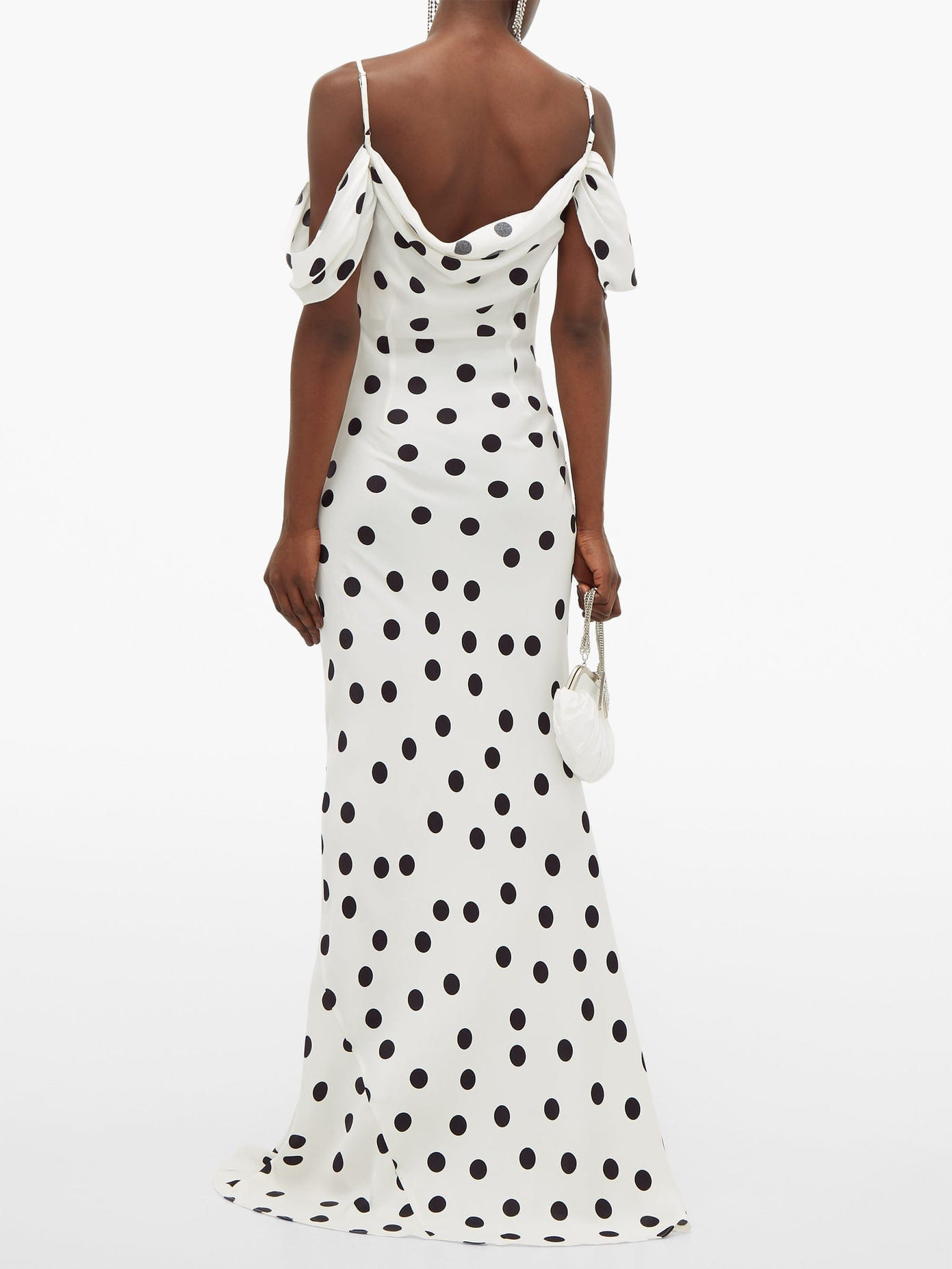 RAT & BOA Antonia Polka-dot Off-the-shoulder Dress