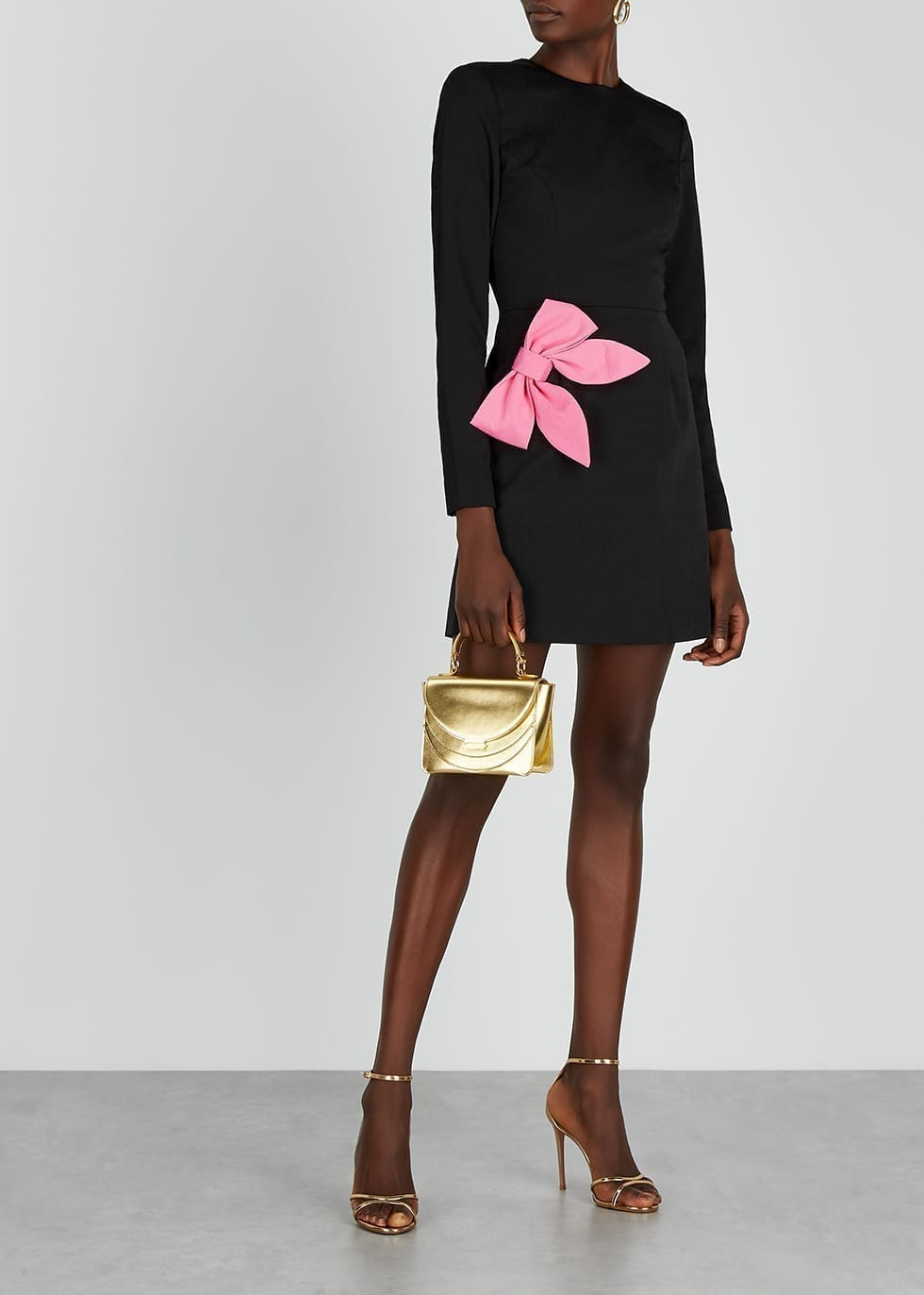 REBECCA VALLANCE Winslow Bow-embellished Mini Dress