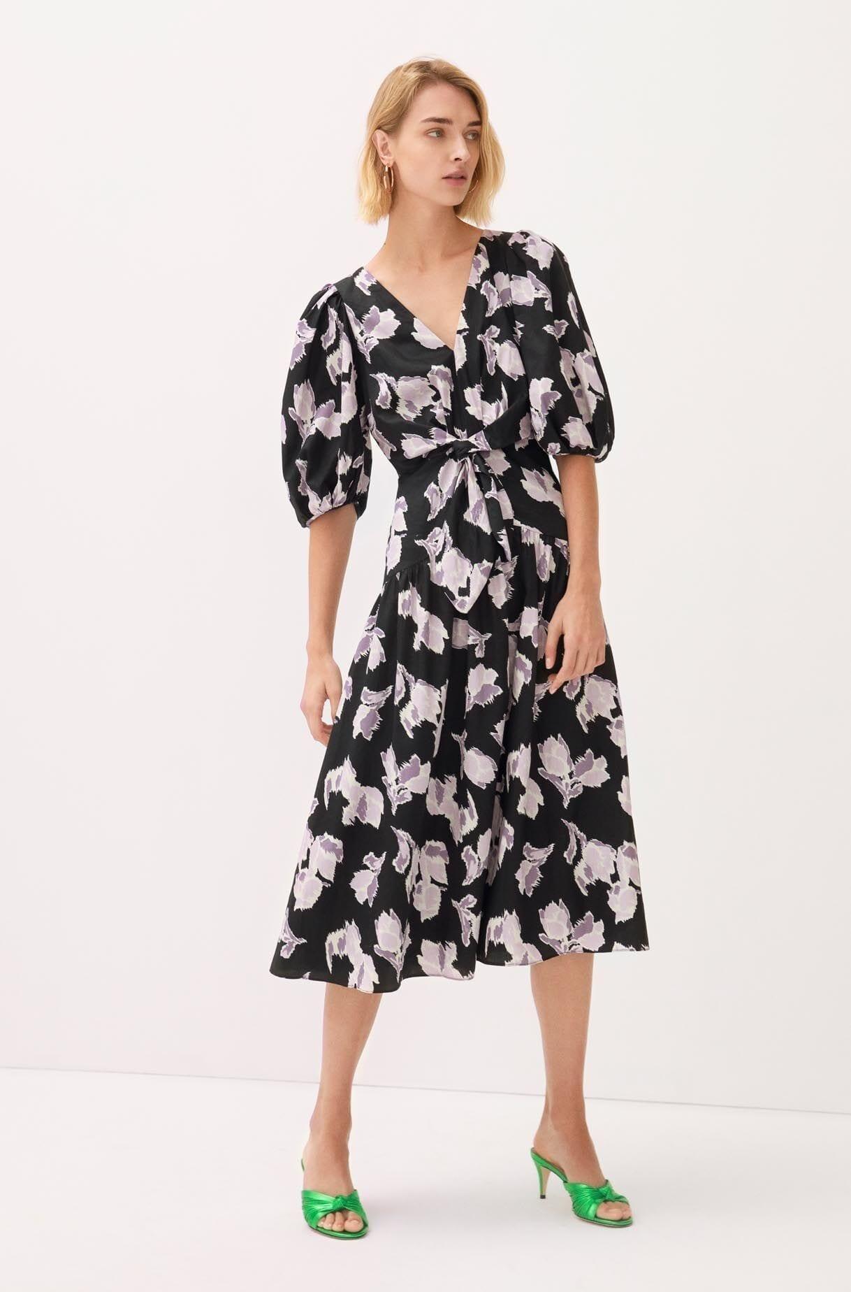 REBECKA TAYLOR Ikat Blossom Cotton Dress