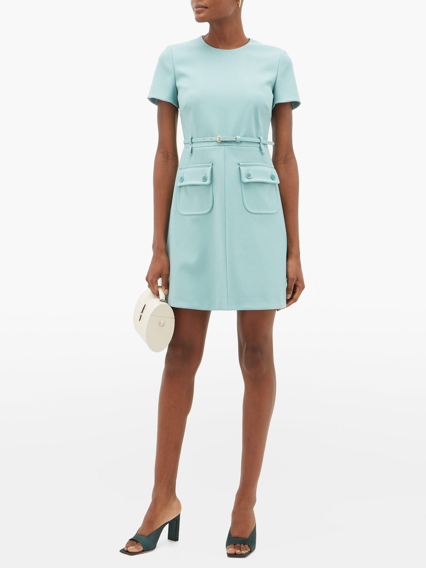 REDVALENTINO Belted Twill Mini Dress