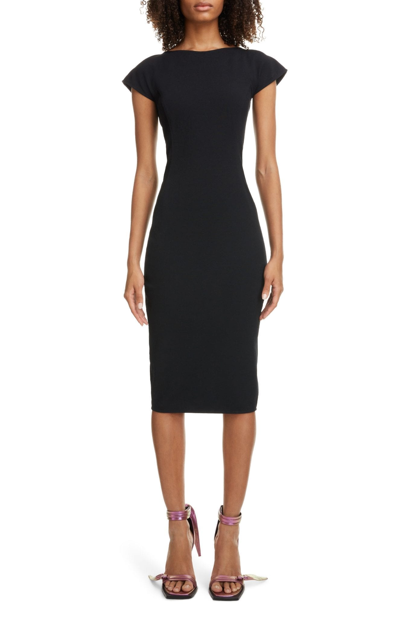 RICK OWENS Back Cutout Sheath Dress