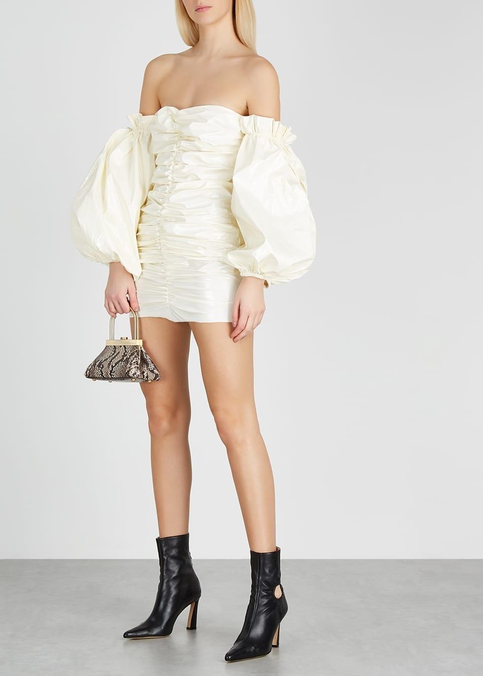 ROTATE BIRGER CHRISTENSEN Phoebe Ruched Pvc Mini Dress