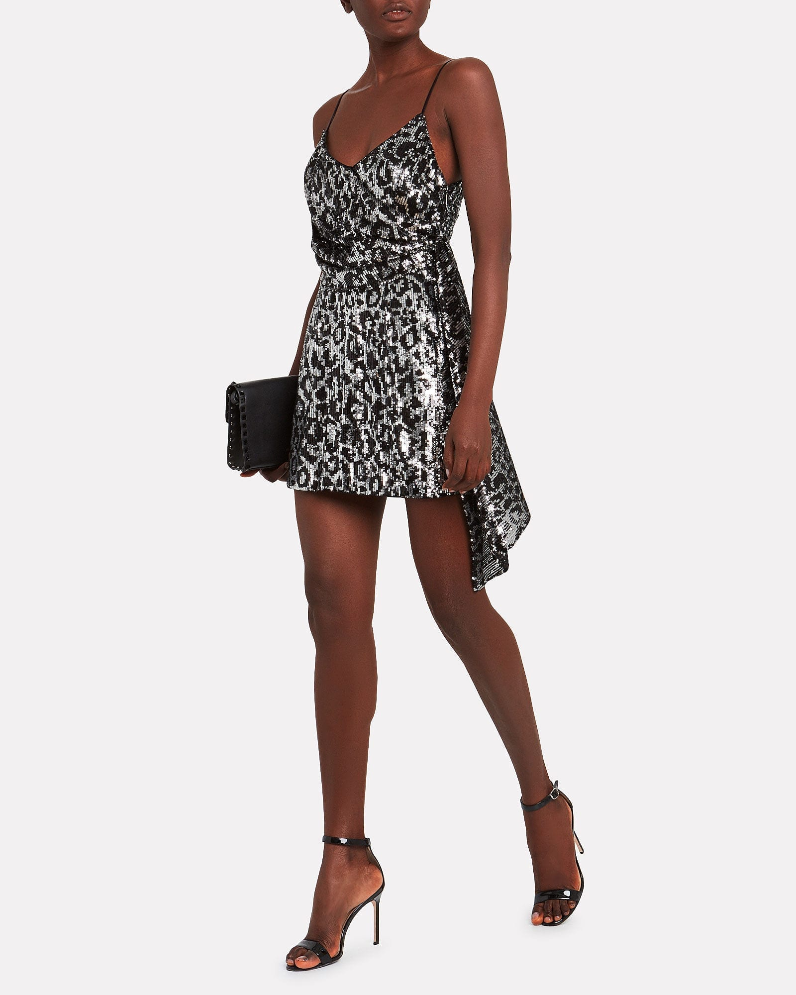 SAYLOR Aidy Sequin Leopard Dress