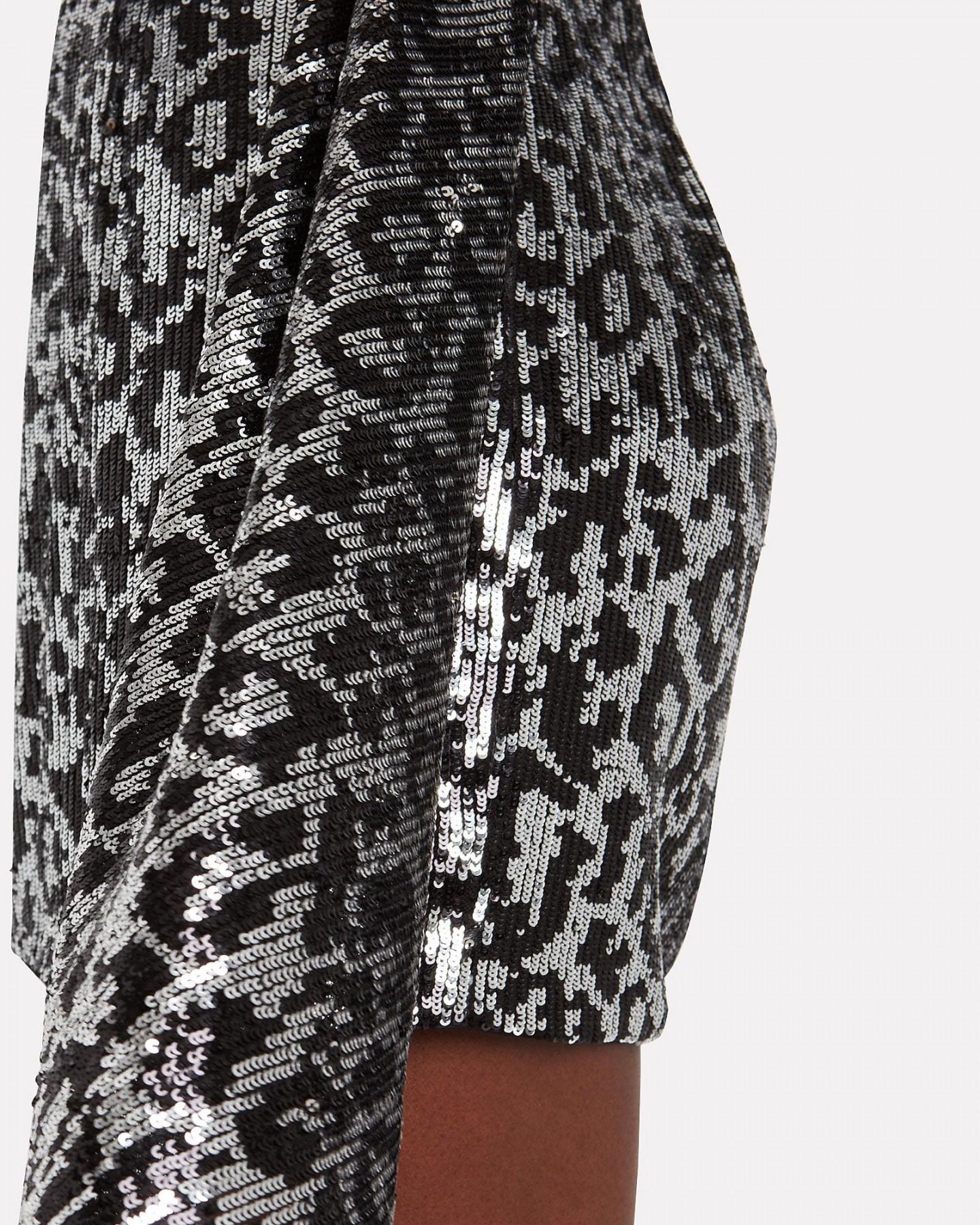 SAYLOR Aidy Sequin Leopard Dress