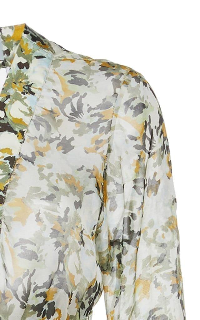 SILVIA TCHERASSI Farolillo Belted Silk-Chiffon Maxi Dress