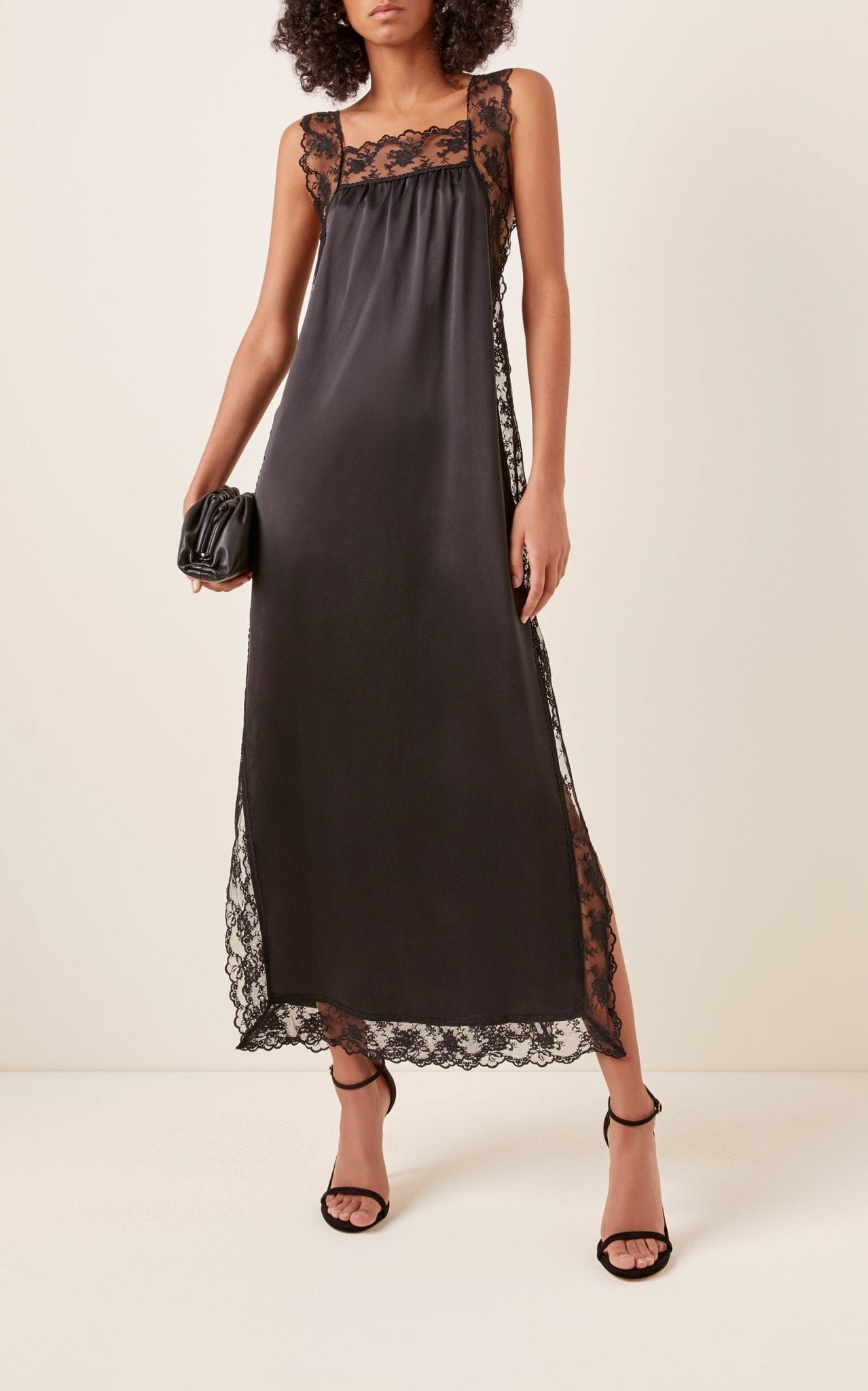 SIR THE LABEL Aries Lace-Trimmed Silk-Satin Slip Dress