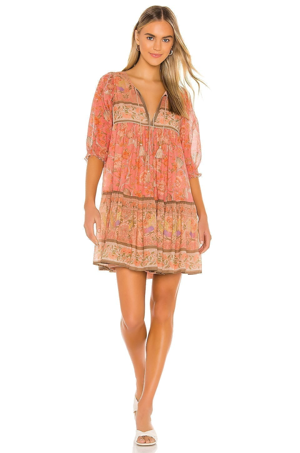 SPELL & THE GYPSY COLLECTIVE Seashell Boho Mini Dress