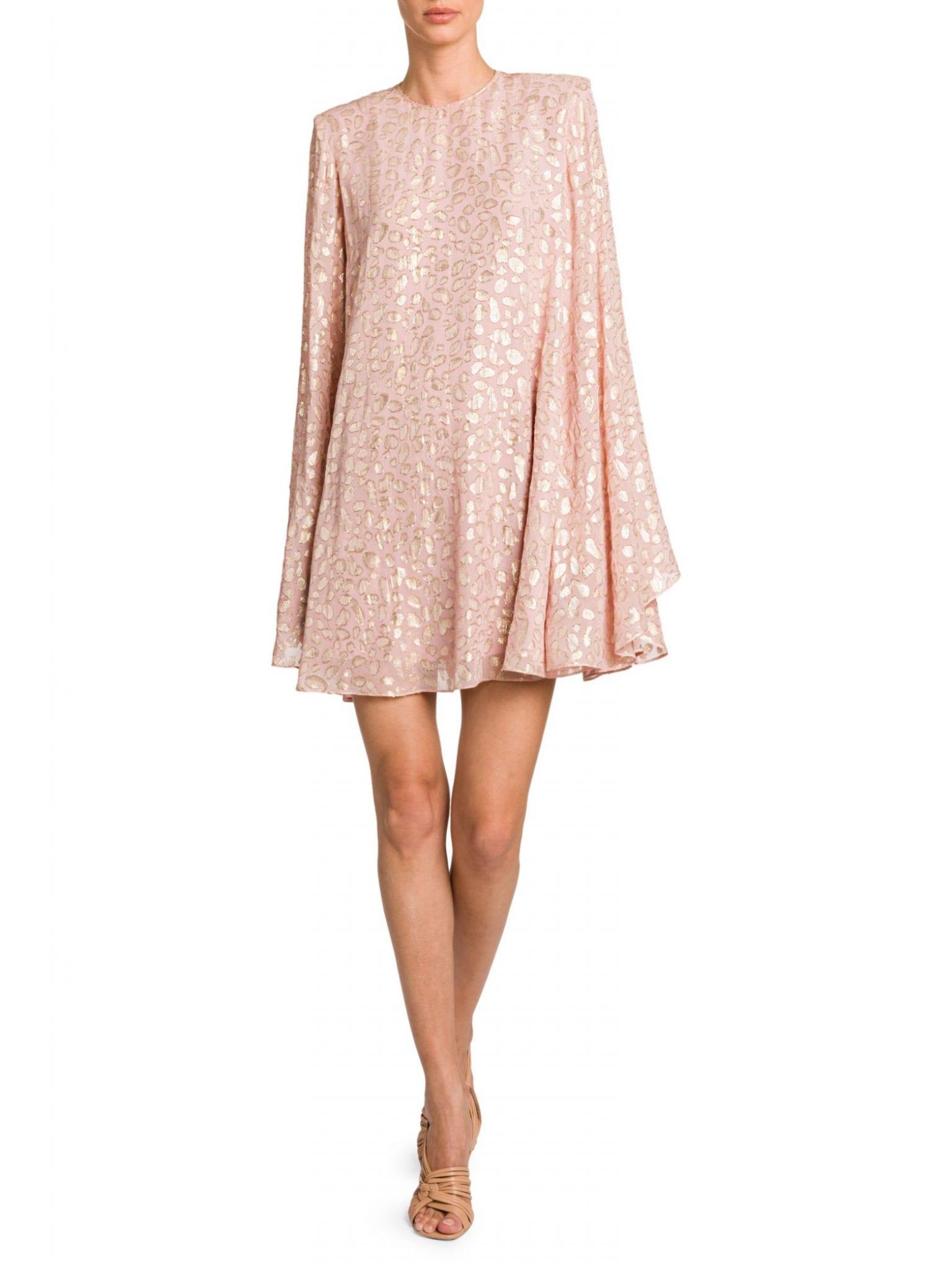 STELLA MCCARTNEY Leopard-Print Babydoll Dress