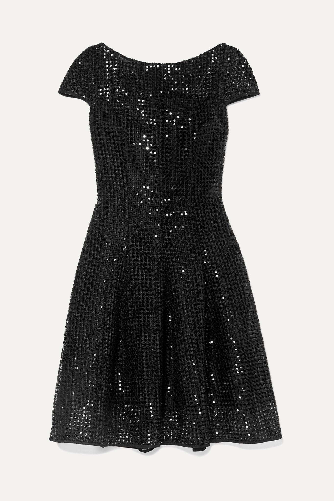 TALBOT RUNHO Fnoix Sequined Macramé Dress