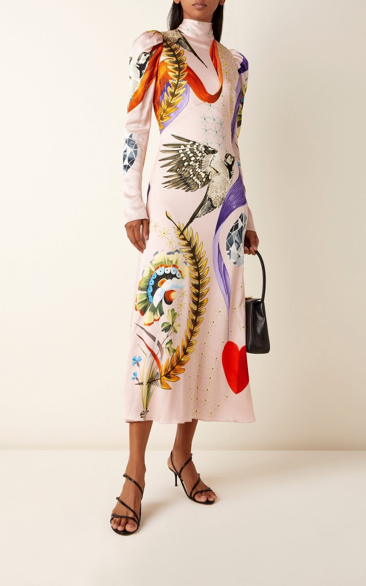 TEMPERLEY LONDON Clementina Printed Silk Dress