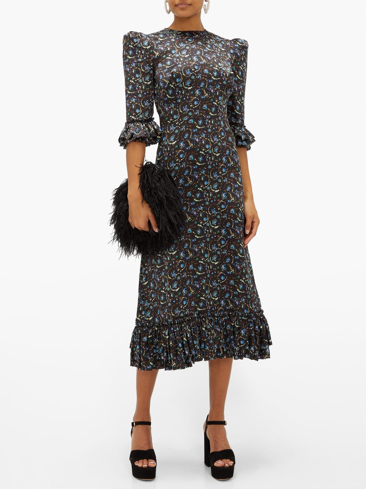 THE VAMPIRE'S WIFE Falconetti Liberty-print Silk Midi Dress