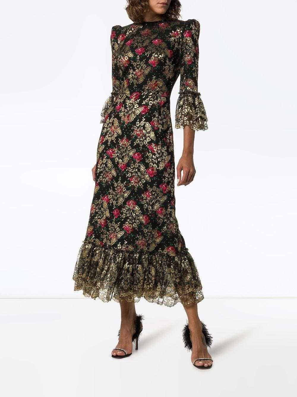 THE VAMPIRES WIFE Wild Rose Floral Midi Dress