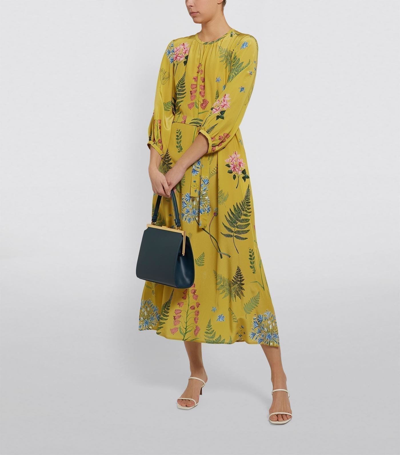 WEEKEND MAX MARA Silk Medusa Floral Maxi Dress