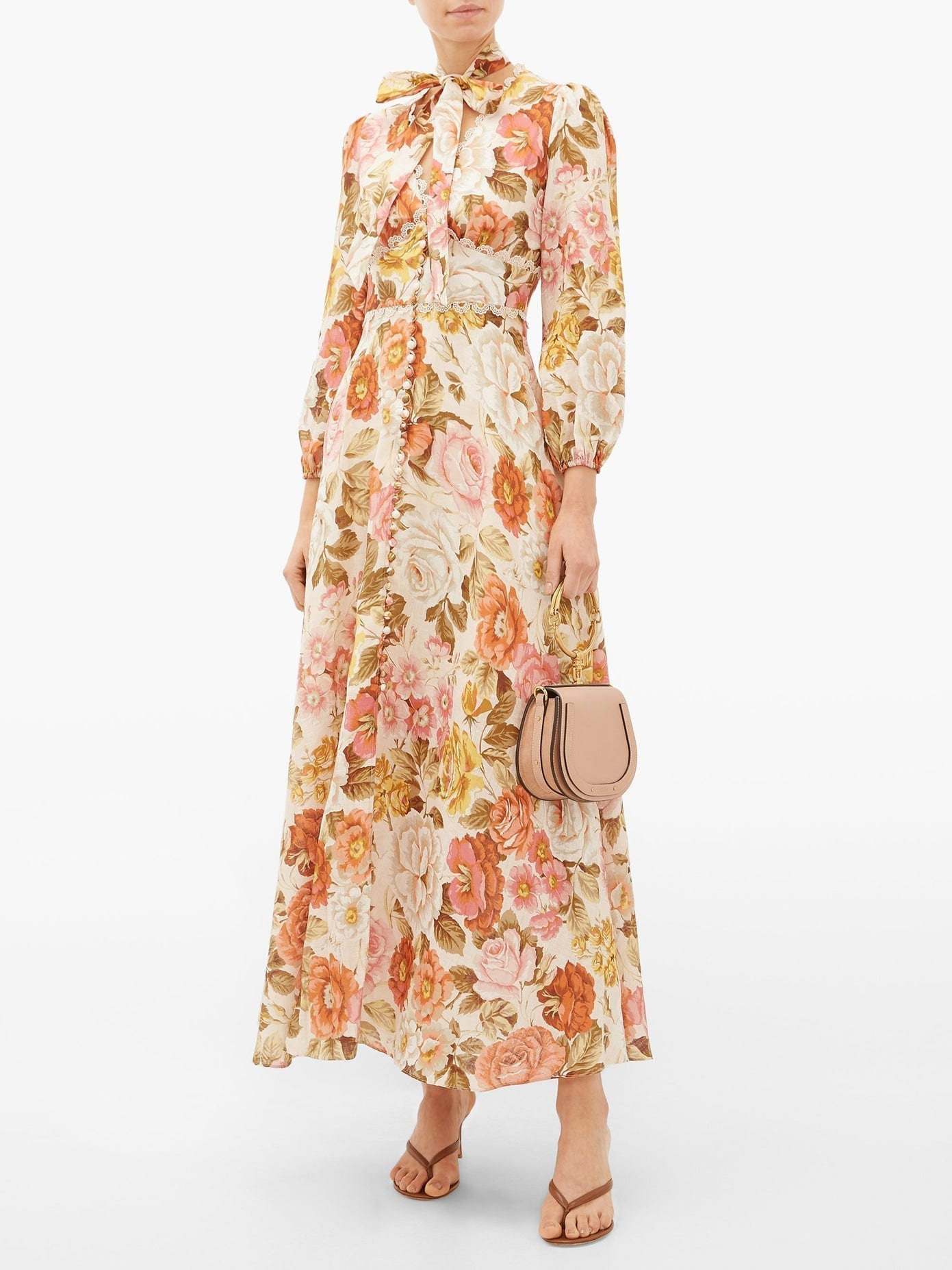 ZIMMERMANN Bonita Floral-print Linen Maxi Dress
