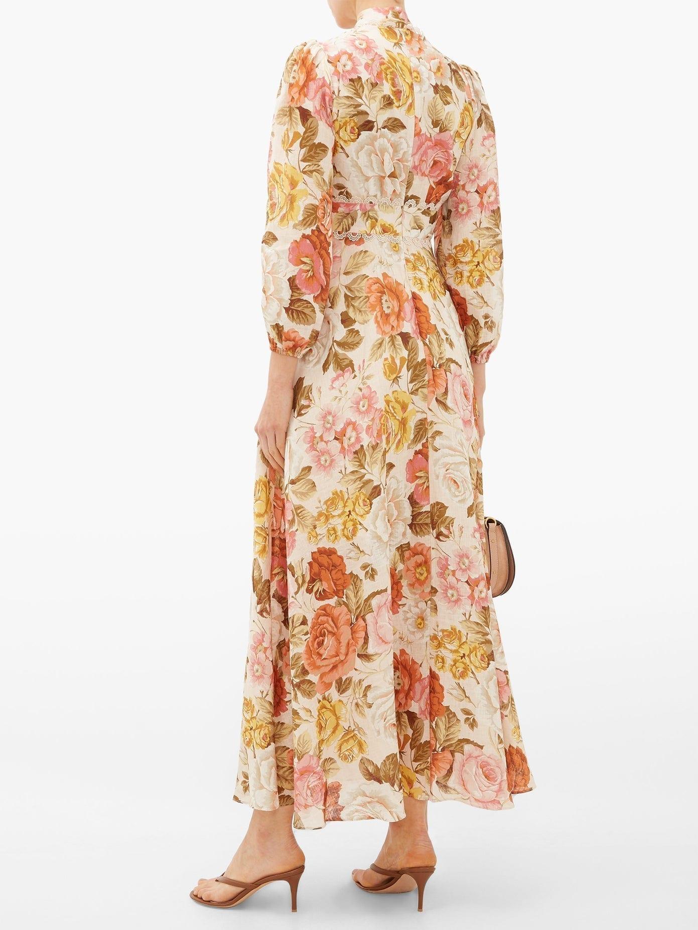 ZIMMERMANN Bonita Floral-print Linen Maxi Dress