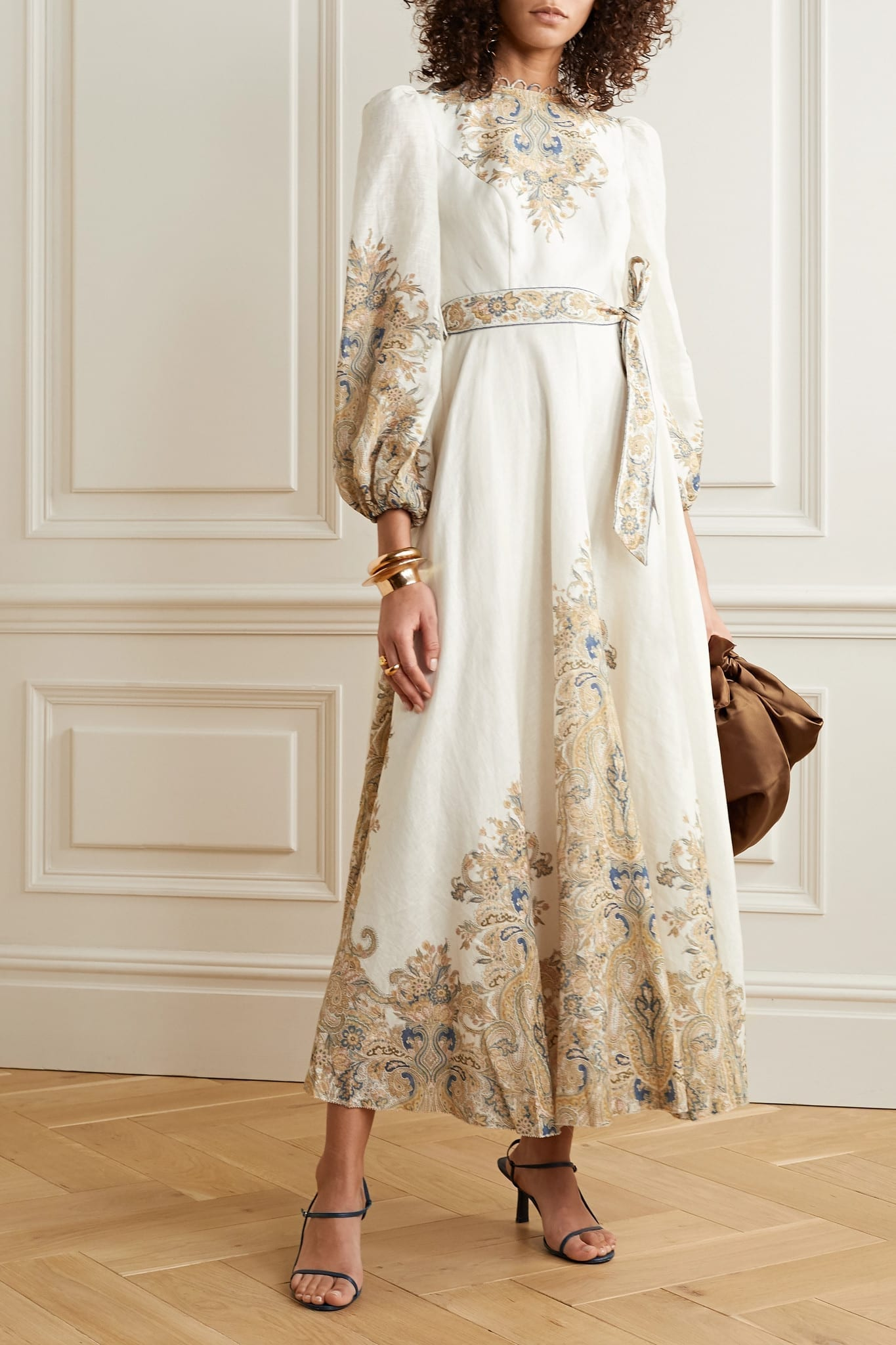 ZIMMERMANN Freja Paisley-print Linen Maxi Dress