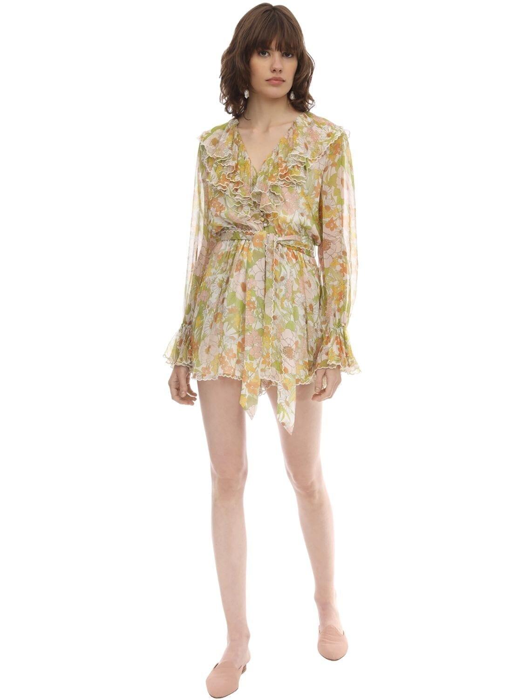ZIMMERMANN Printed Chiffon Mini Dress