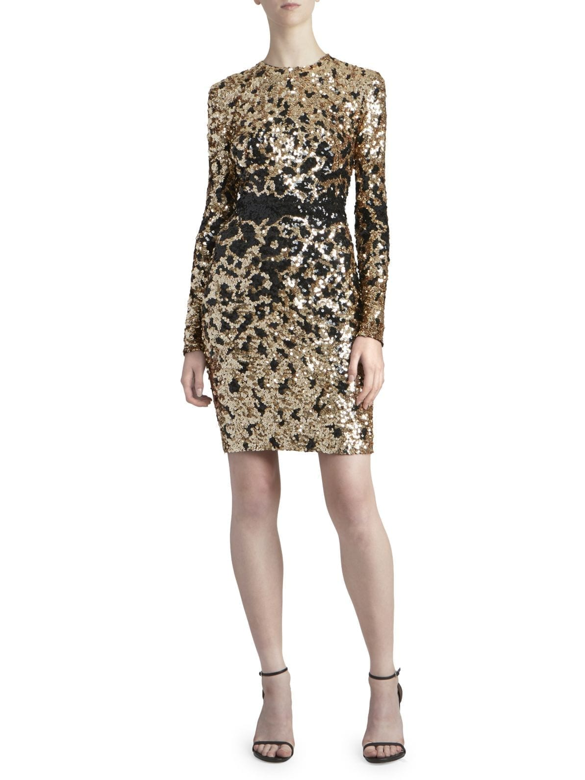 ZUHAIR MURAD Appaloosa Sequin Cocktail Dress
