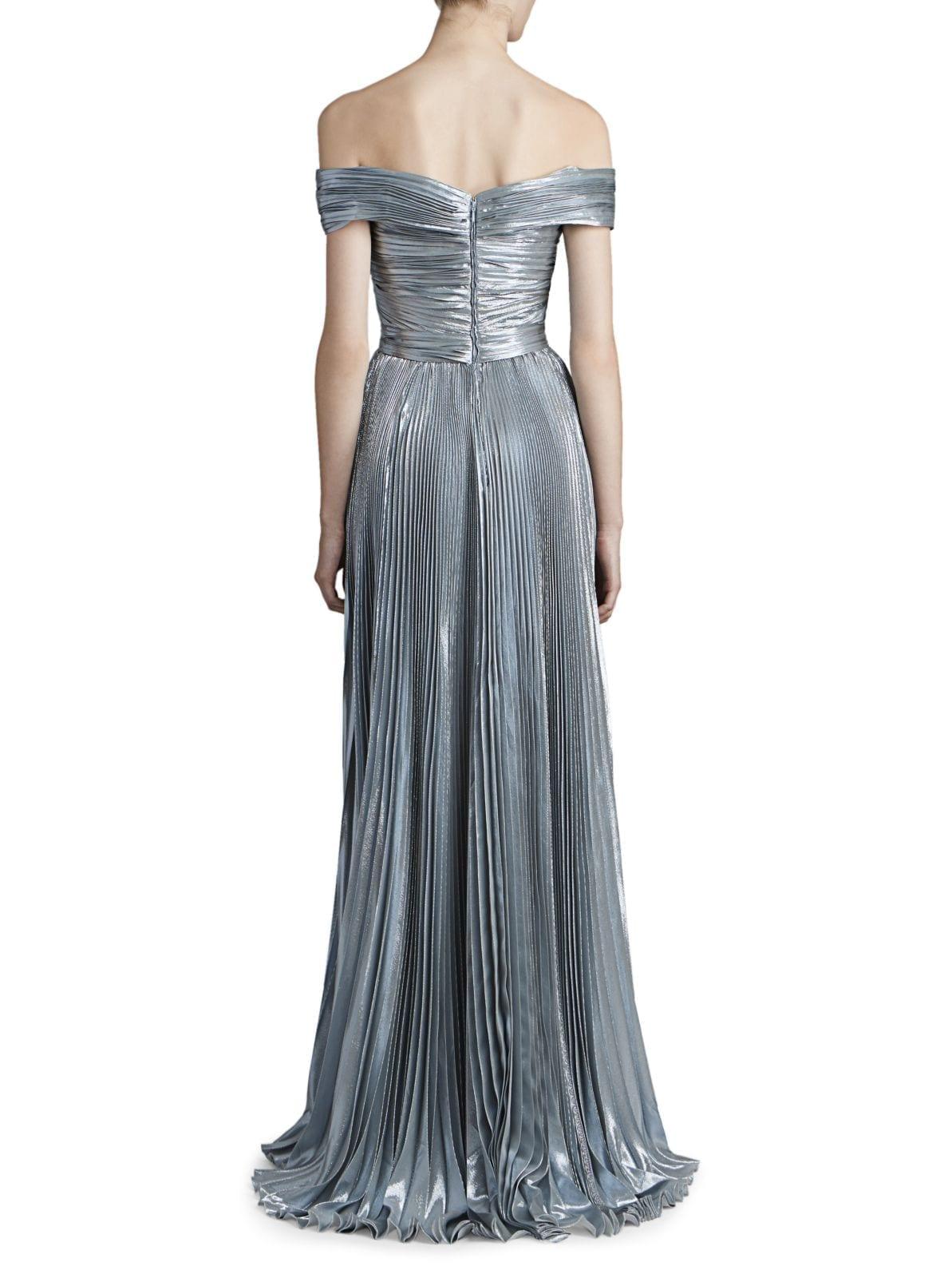 ZUHAIR MURAD Azdorado Off-The-Shoulder Plissé Gown