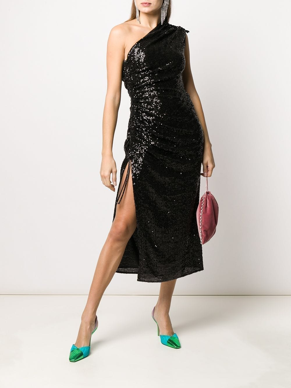 16ARLINGTON One Shoulder Sequin Dress