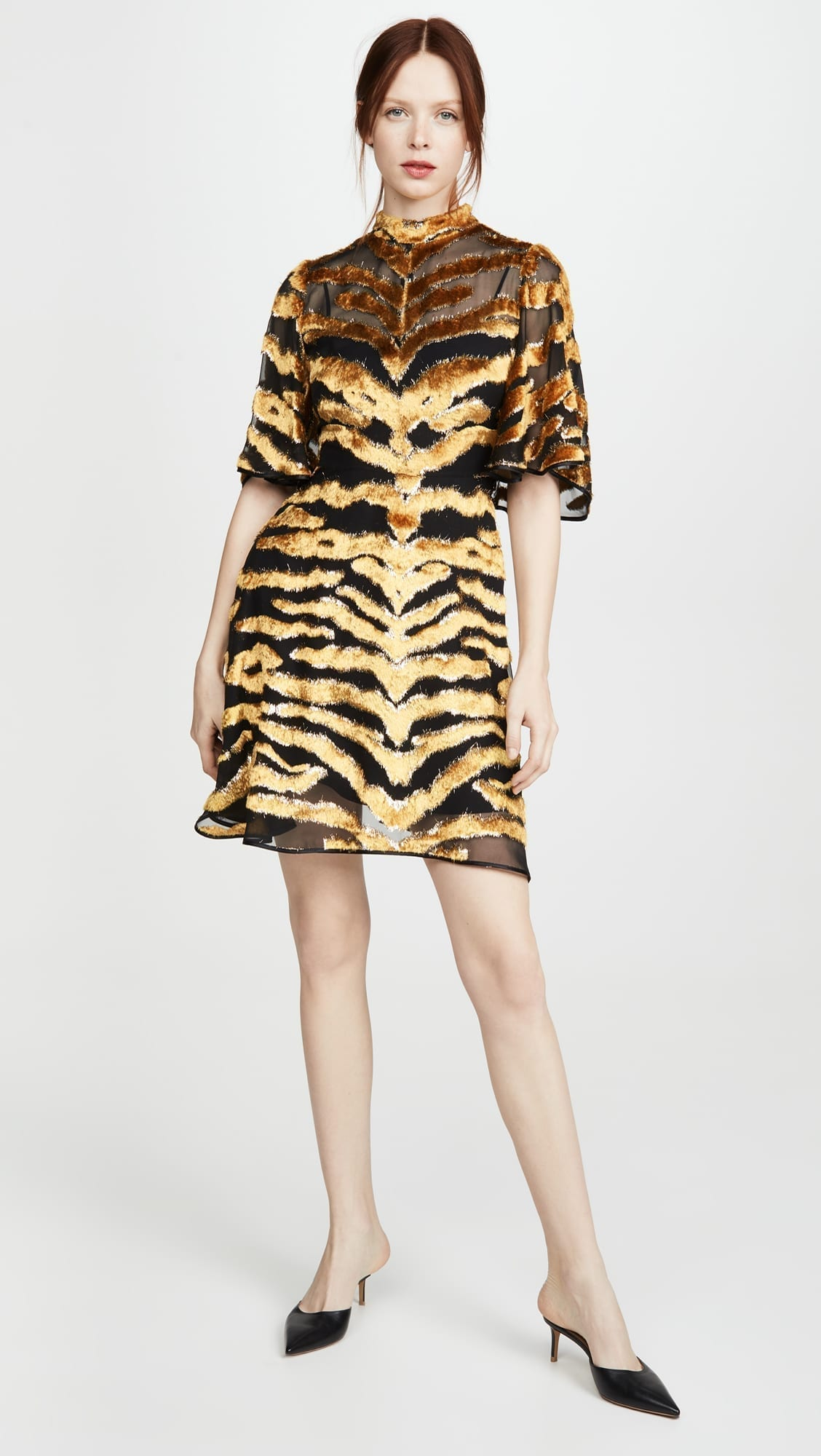 ADAM LIPPES Burnout Velvet Mini Dress