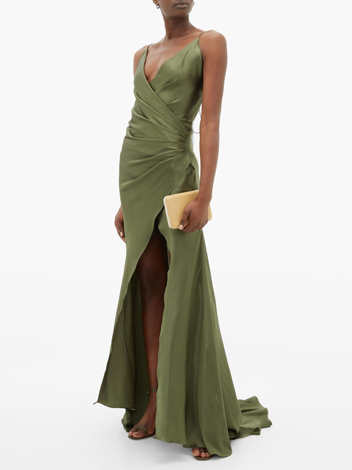 ADRIANA IGLESIAS Scarface Silk-Blend Satin Gown