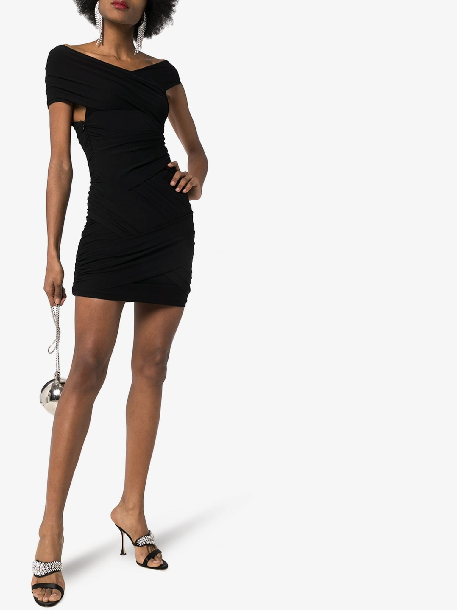 ALEXANDRE VAUTHIER Off-The-Shoulder Bandeau Mini Dress