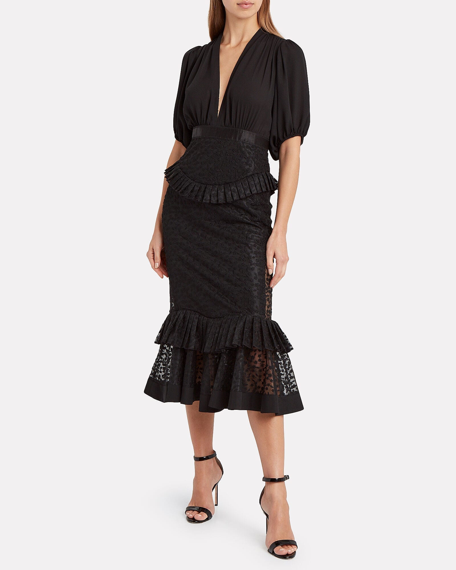ALEXIS Dilarra Embroidered Chiffon Dress
