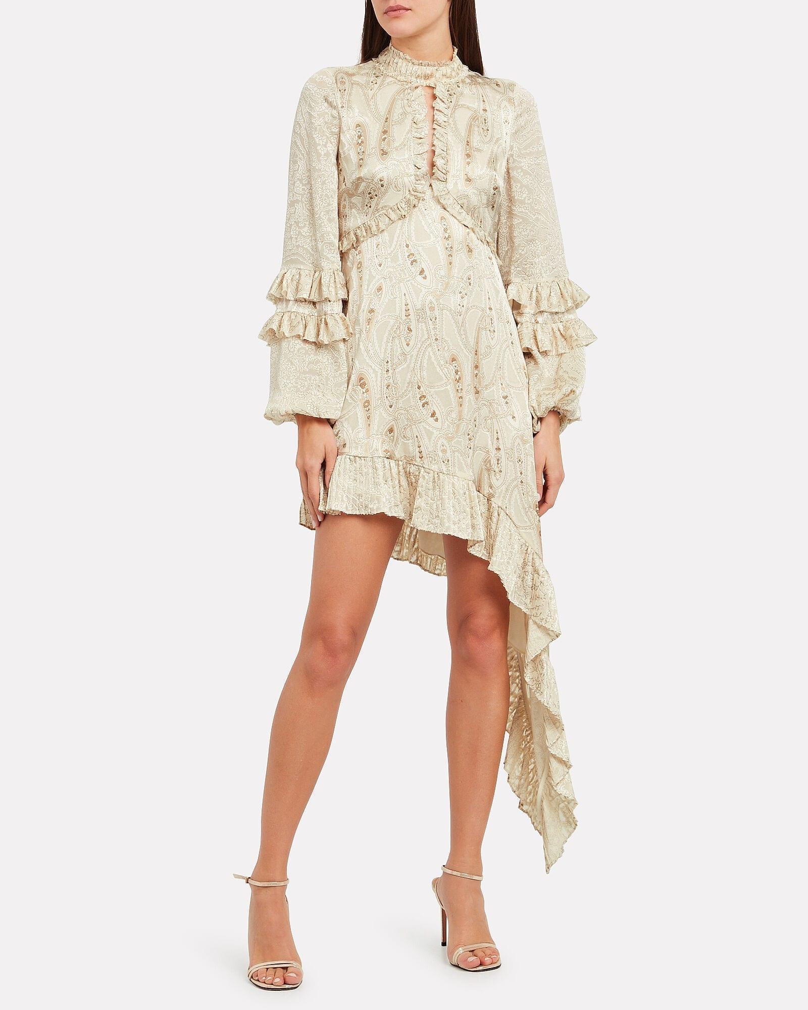 ALEXIS Liora Paisley Print Satin Dress