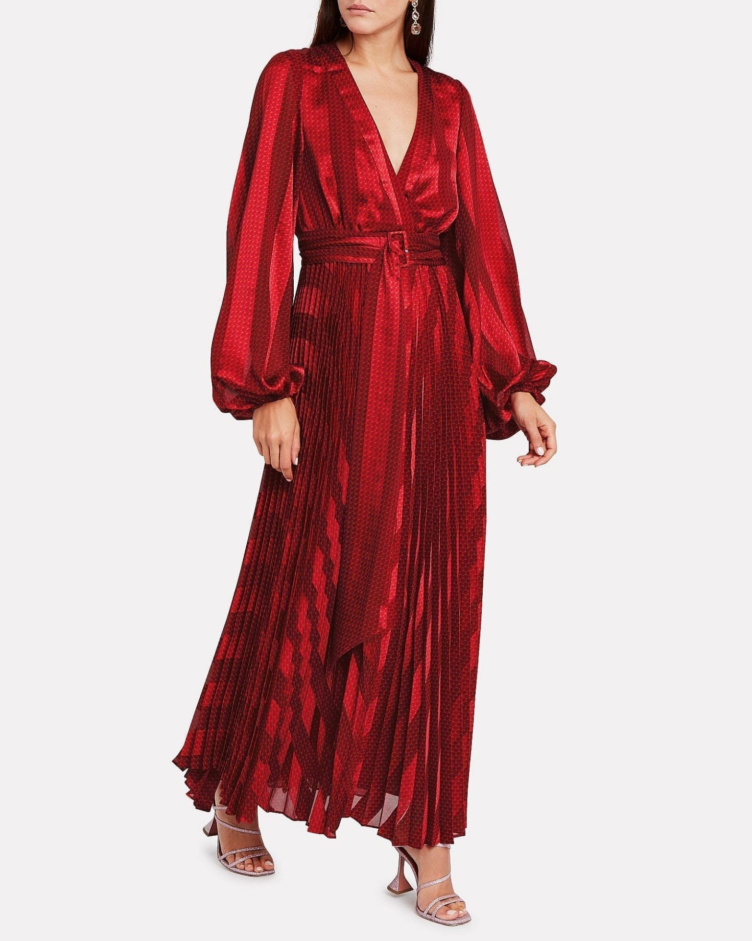 ALEXIS Salomo Pleated Geo Print Dress
