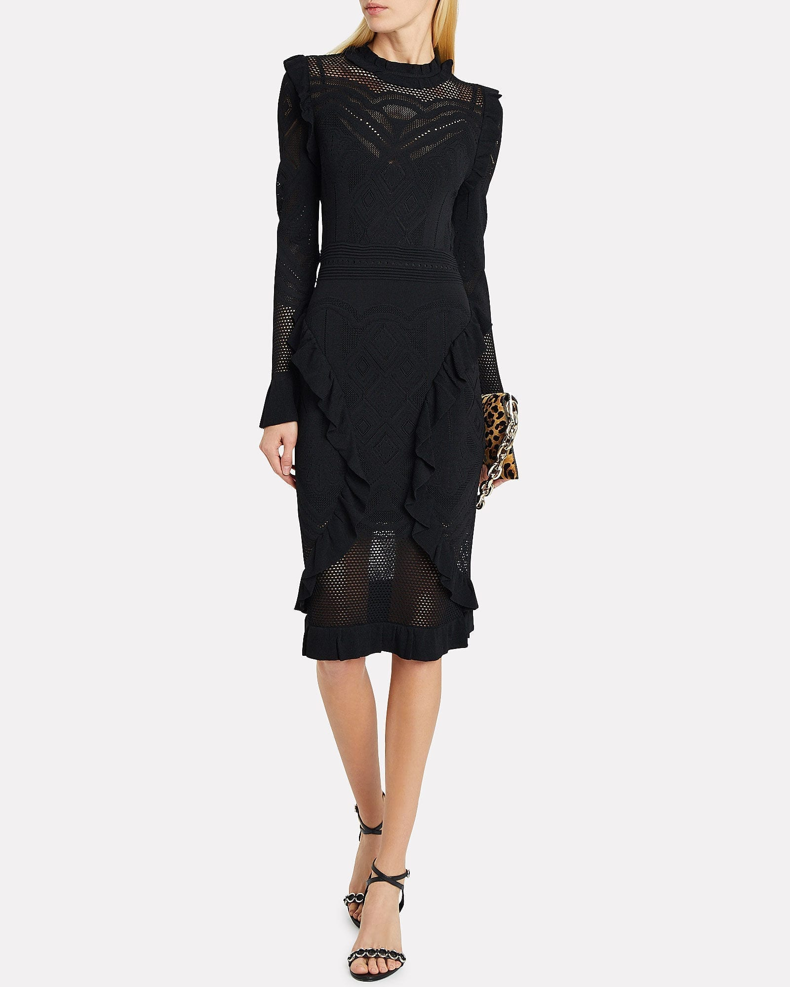 ALEXIS Sivan Pointelle Knit Midi Dress