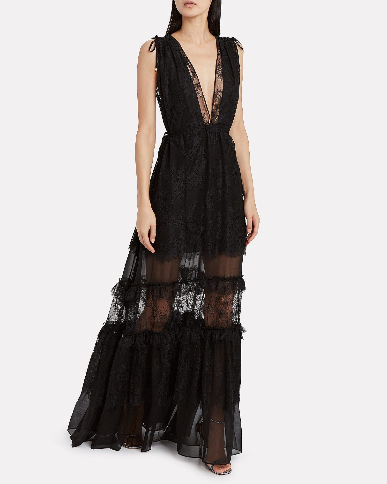 ALEXIS Umbra Tiered Lace Gown