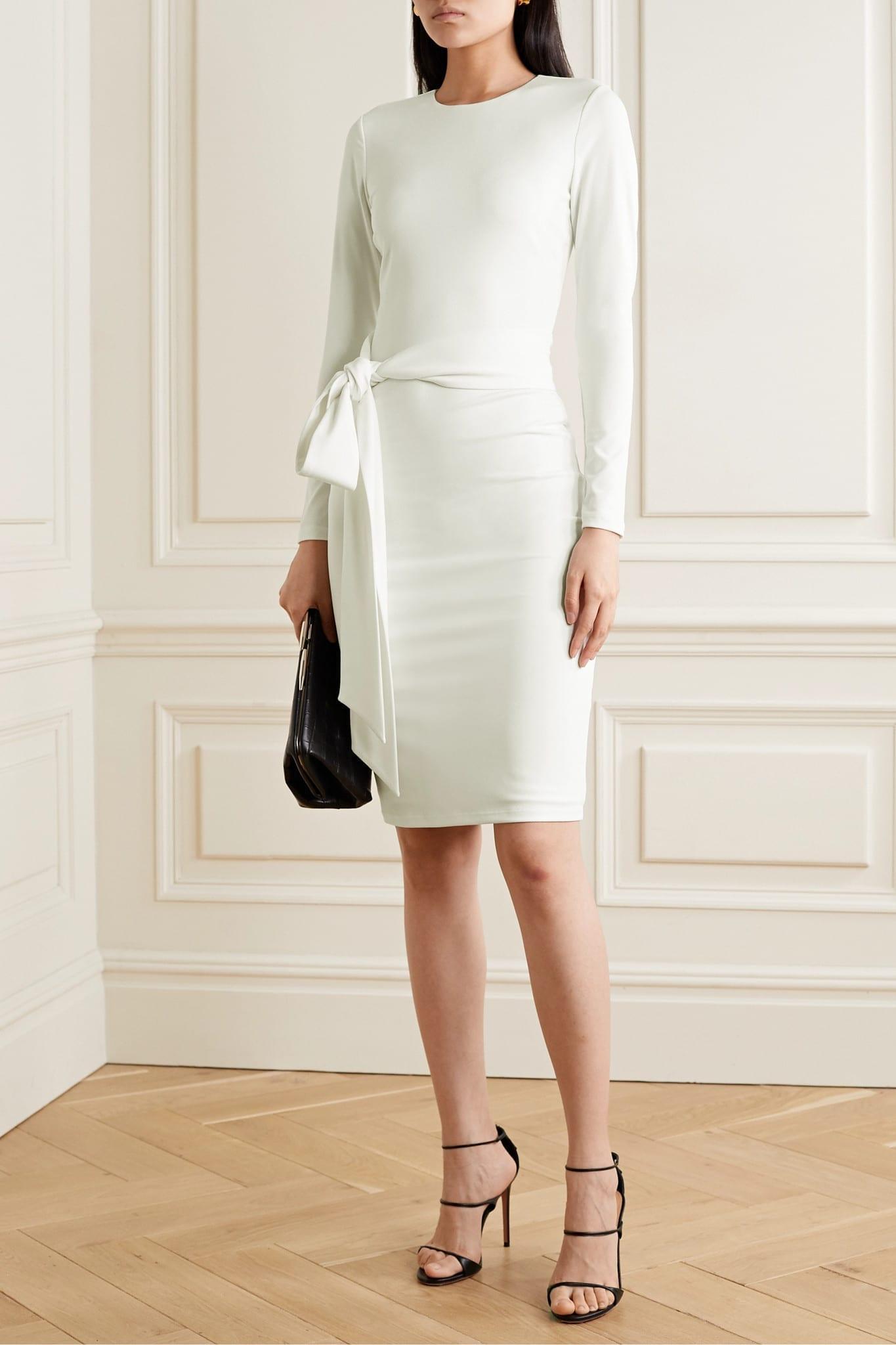 ALICE + OLIVIA Delora Stretch-crepe Dress