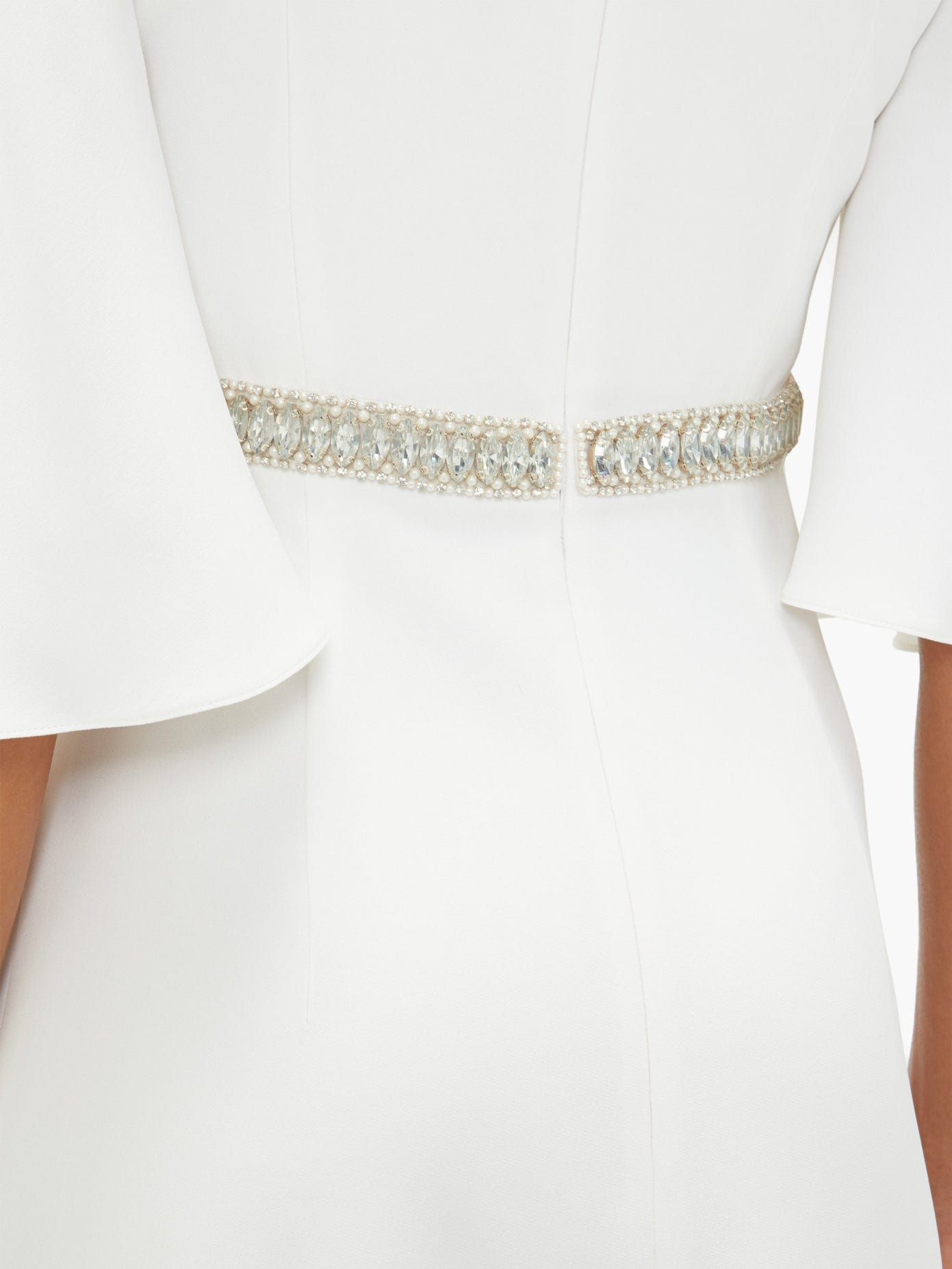 ANDREW GN Crystal-embellished Cady Gown