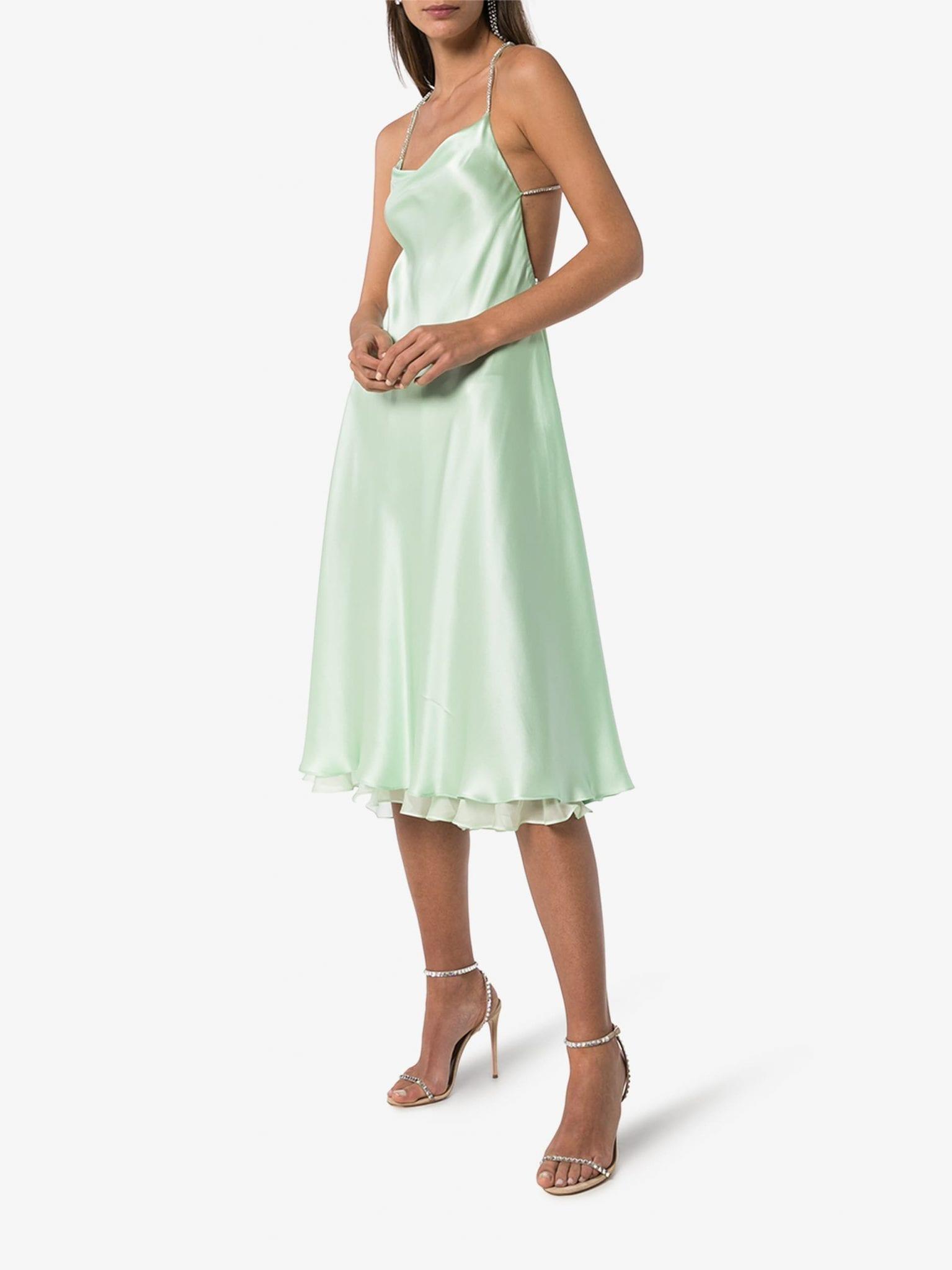 ANOUKI Open Back Silk Dress