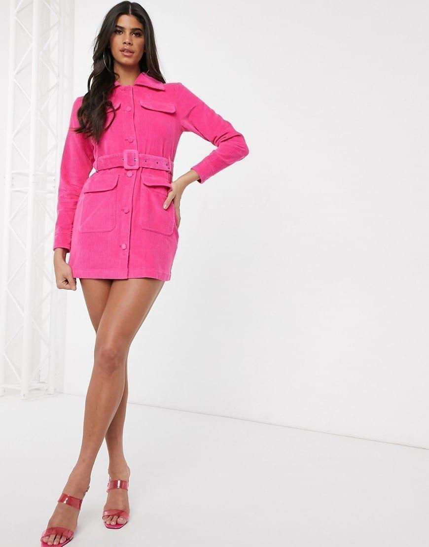 ASOS DESIGN Cord Shirt Dress