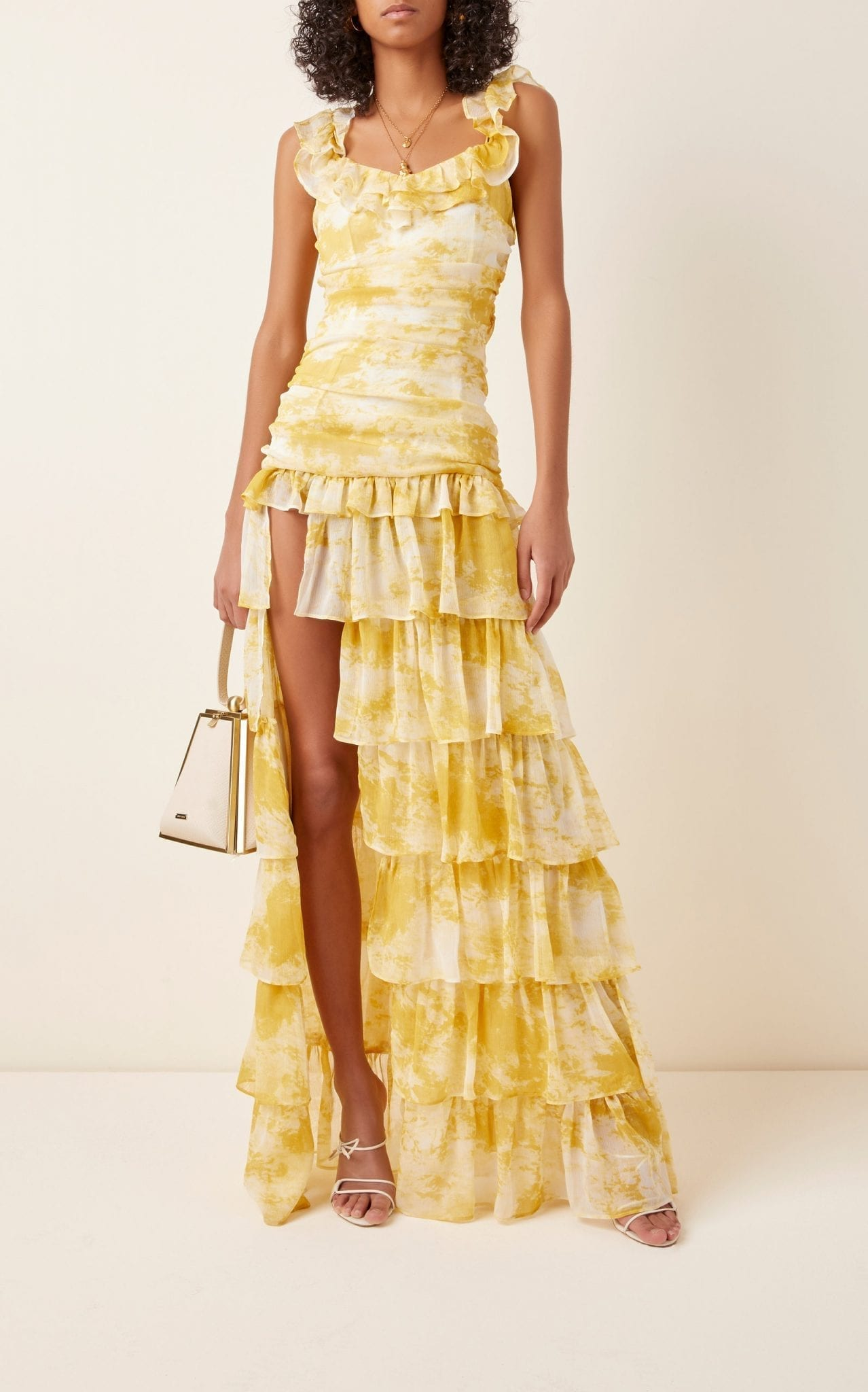 ATOIR Back To Love Tiered Ruffle Chiffon Dress