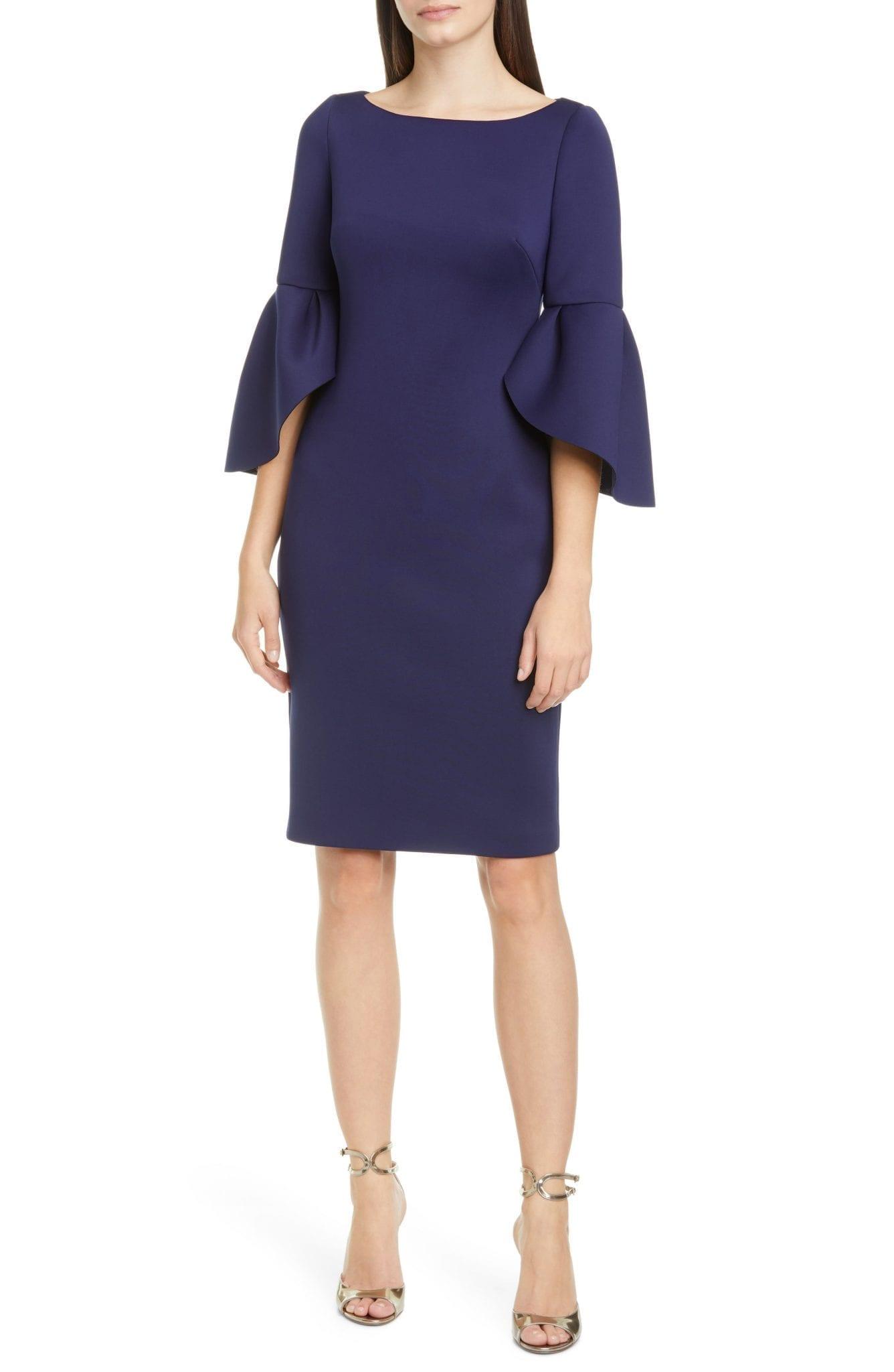 BADGLEY MISCHKA COLLECTION Badgley Mischka Tulip Sleeve Cocktail Dress