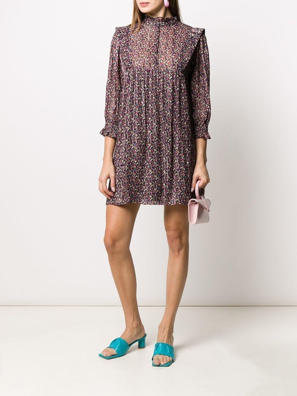 BA&SH Deep Abstract-print Shirt Dress