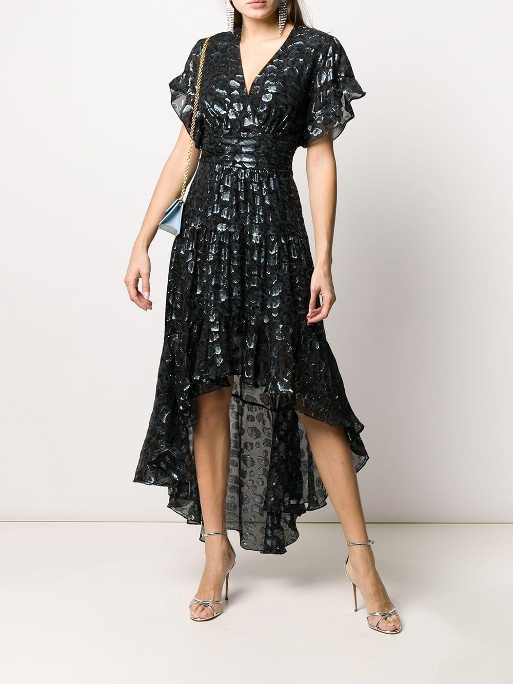 BA&SH Grace Metallic Leopard-print Dress