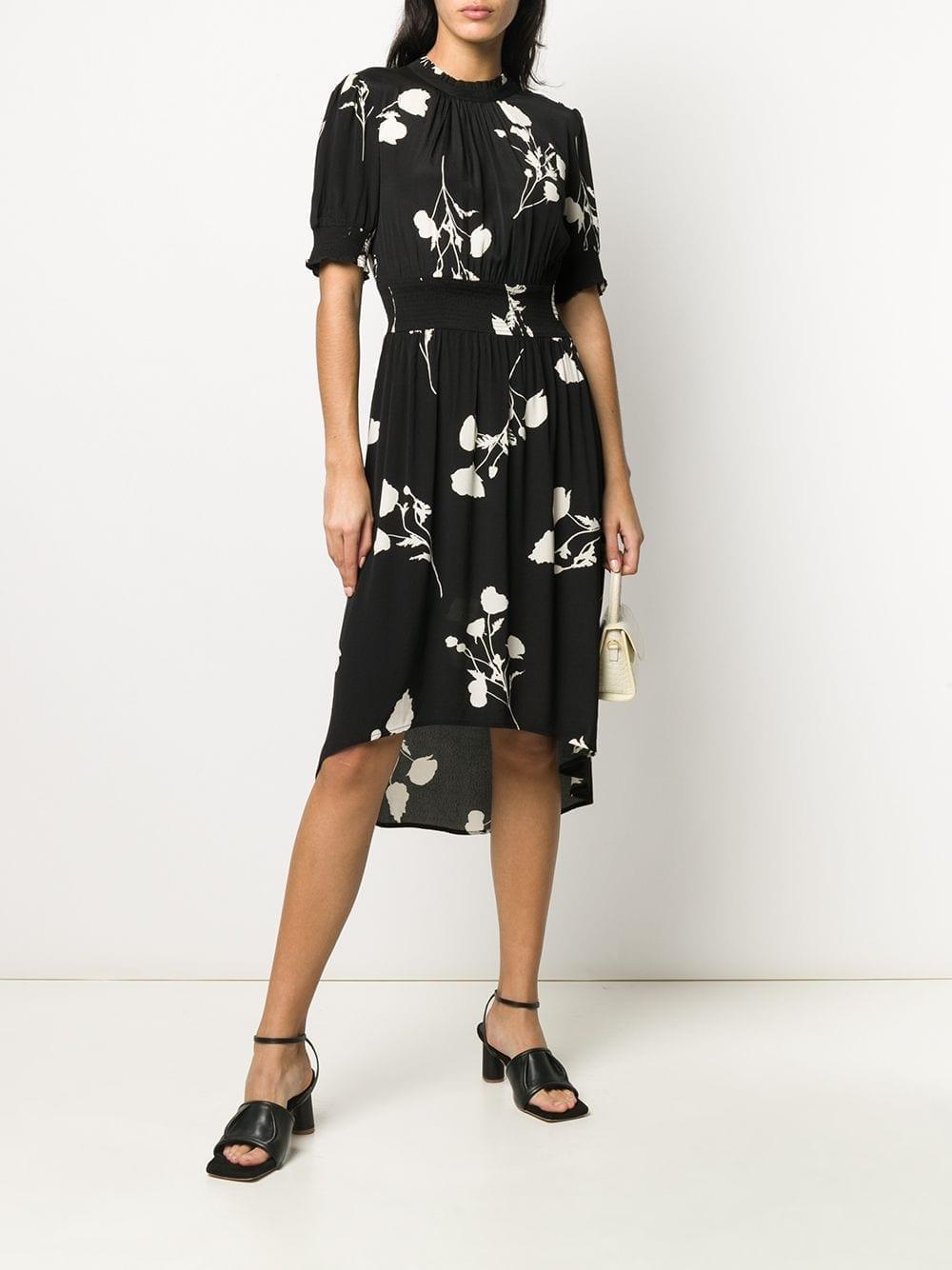 BA&SH Poppy Floral-print Midi Dress